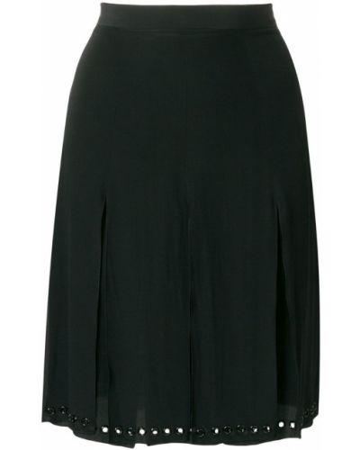 Шелковая юбка - черная Tomas Maier