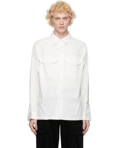 Koszula bawełniana z haftem z długimi rękawami Landlord