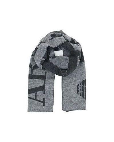 Серый шарф Armani Jeans