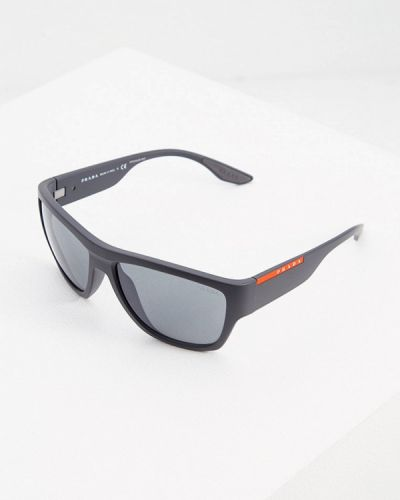 Серые солнцезащитные очки квадратные Prada Linea Rossa