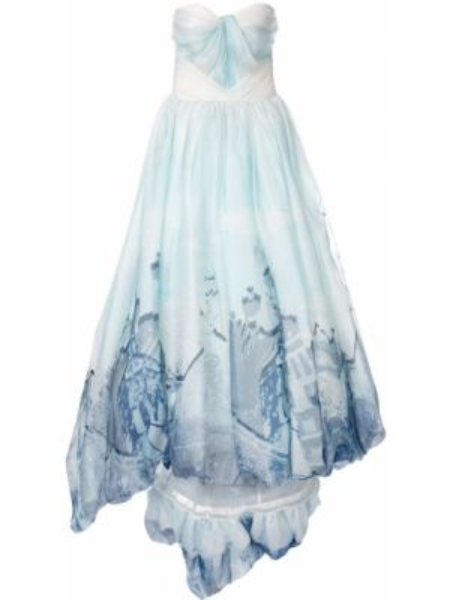 Вечернее платье на молнии с вырезом Isabel Sanchis
