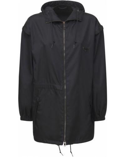 Куртка с поясом - черная Prada