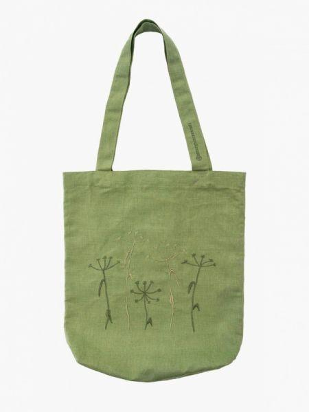 Сумка шоппер весенний зеленый семейные ценности