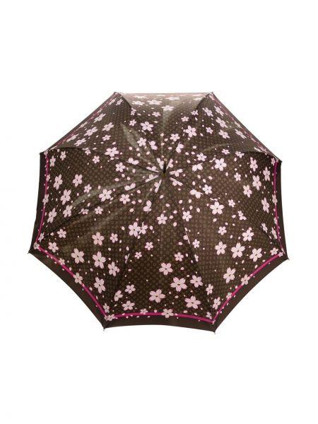 Brązowy parasol z printem Louis Vuitton