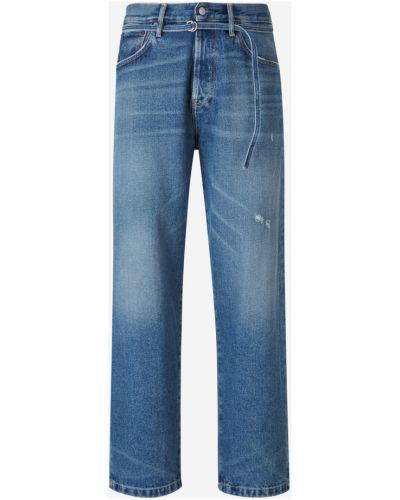 Klasyczne niebieskie jeansy zapinane na guziki Acne Studios
