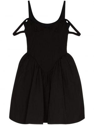 Czarna sukienka z falbanami tiulowa Shushu/tong