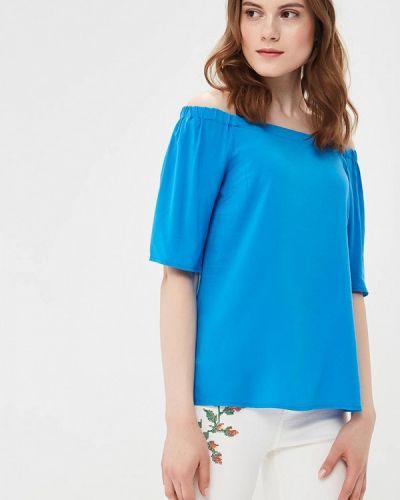 Синяя блузка с открытыми плечами Befree