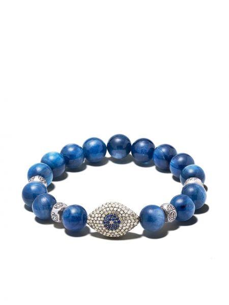 Синий браслет с бисером Loree Rodkin