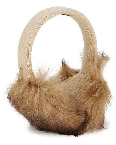 Меховые наушники из кролика с подкладкой Portolano