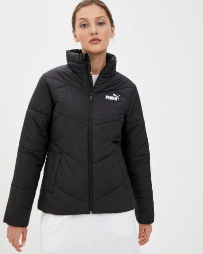 Теплая черная куртка Puma