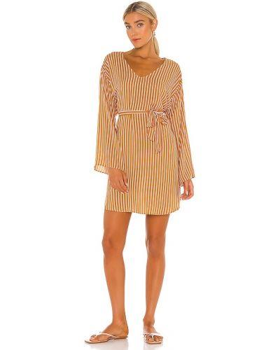 Платье макси с длинными рукавами - желтое Seafolly