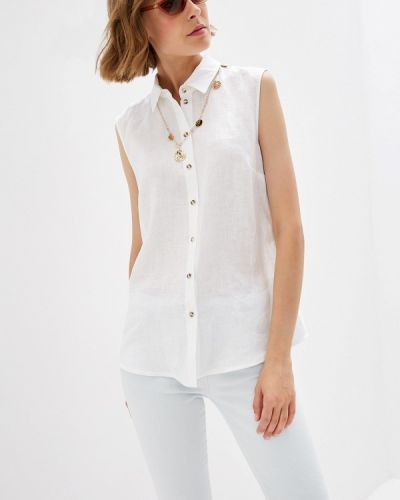 Блузка без рукавов польская белая Sa.l.ko