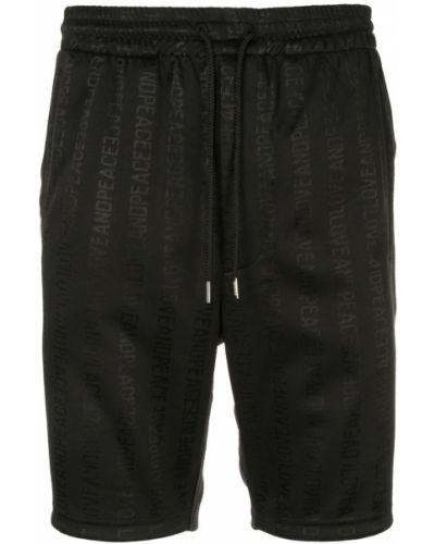 Черные бермуды с карманами Roarguns
