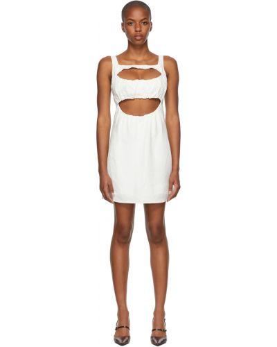 Biała sukienka bez rękawów Danielle Guizio