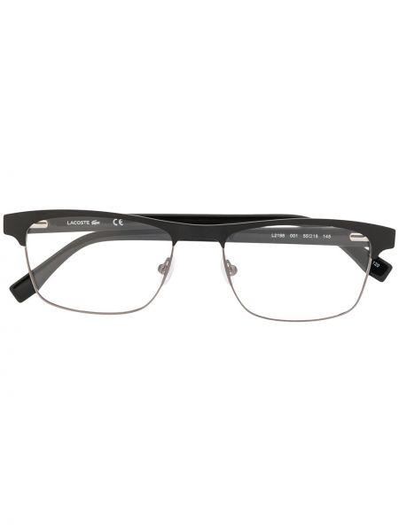 Czarny oprawka do okularów metal plac za pełne Lacoste