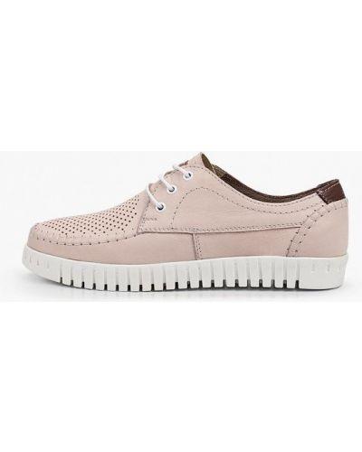 Розовые кожаные ботинки Shoiberg
