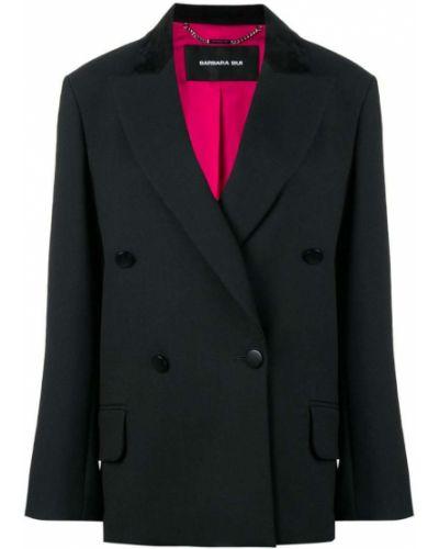 Черный классический пиджак оверсайз с карманами Barbara Bui