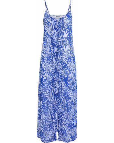 Niebieska sukienka z szyfonu Walter Baker