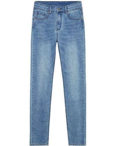 Прямые джинсы классические - синие Moodo