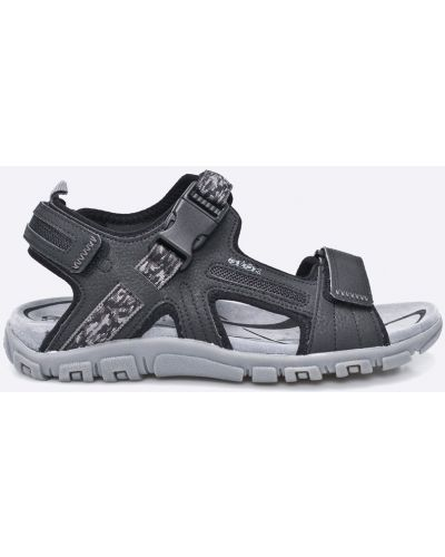Черные сандалии кожаные Geox