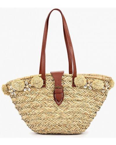 Пляжная сумка соломенная бежевый Camomilla Italia