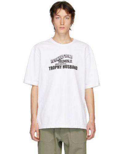 Czarny t-shirt bawełniany krótki rękaw Linder