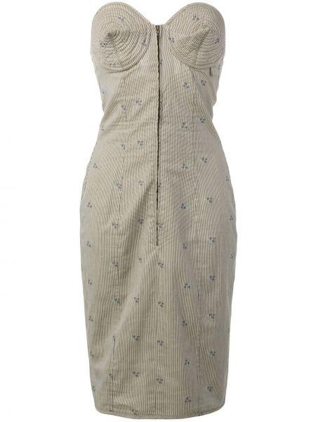 Платье миди в полоску винтажная Jean Paul Gaultier Pre-owned