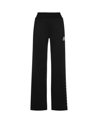 Прямые черные спортивные брюки эластичные Kappa