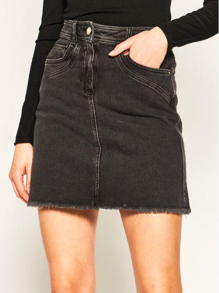 Czarna spódnica jeansowa Pennyblack