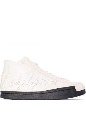 Beżowe sneakersy skorzane sznurowane Yohji Yamamoto
