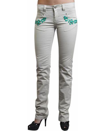 Хлопковые джинсы - бежевые Iceberg