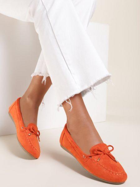 Mokasyny - pomarańczowe Renee