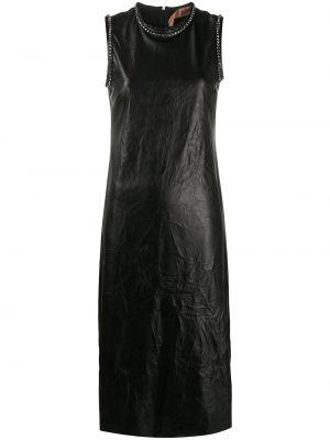 Кожаное платье - черное N°21