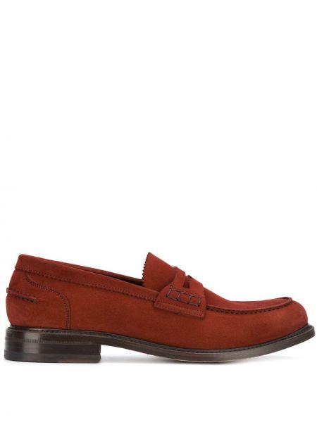 Классические туфли красные замшевые Berwick Shoes