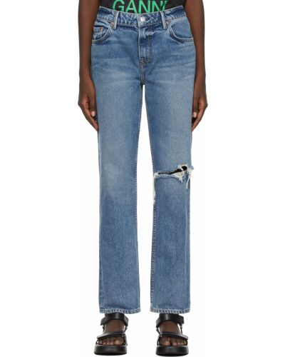 Białe mom jeans srebrne Grlfrnd