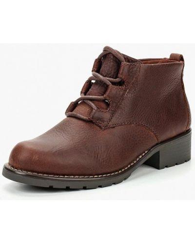 Кожаные ботинки осенние на каблуке Clarks