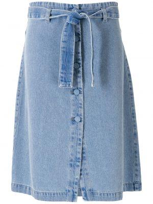 Хлопковые синие джинсовые шорты на пуговицах Amapô