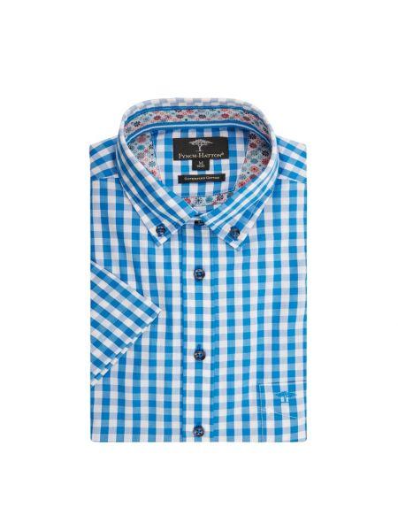 Koszula krótkie z krótkim rękawem w kratę z kołnierzem Fynch-hatton
