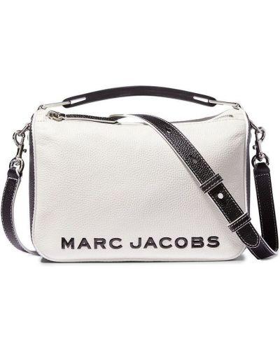 Biała torba na ramię skórzana z paskiem Marc Jacobs