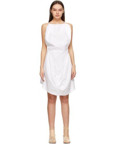 Бальное белое платье с открытой спиной Mm6 Maison Margiela