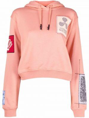 Худи длинное - розовое Mcq