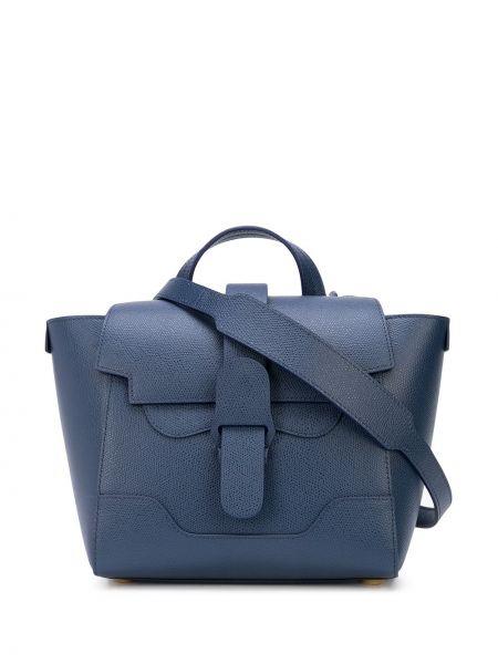 Niebieska torebka mini skórzana Senreve