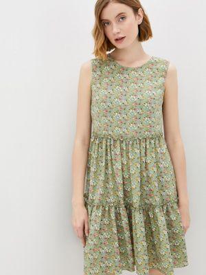 Зеленое прямое платье Shovsvaro