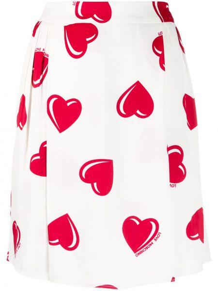 Плиссированная юбка мини с поясом винтажная Moschino Pre-owned