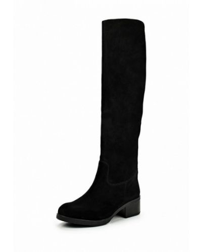 Черные ботфорты замшевые Tervolina