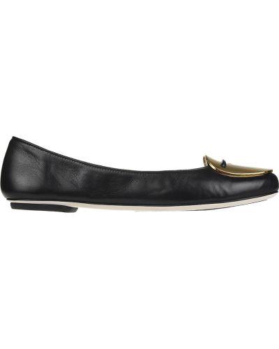 Черные балетки кожаные Loriblu