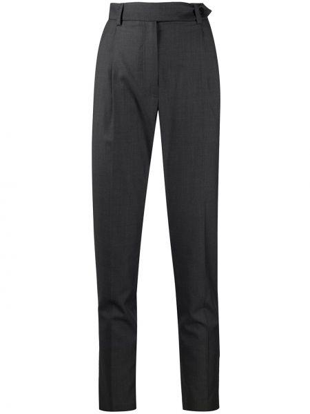 Шерстяные черные прямые брюки с поясом Iro