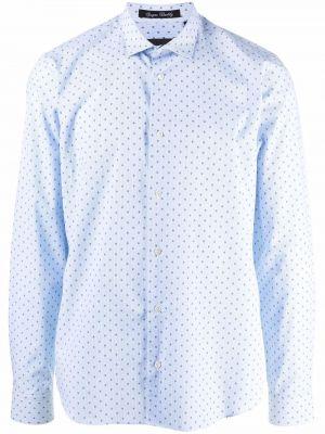 Niebieska klasyczna koszula Philipp Plein