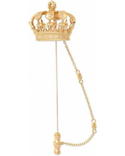 Żółta złota broszka Dolce And Gabbana