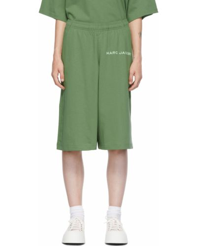 Зеленые трикотажные шорты Marc Jacobs